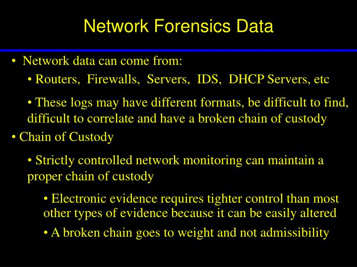 Network Forensics Data