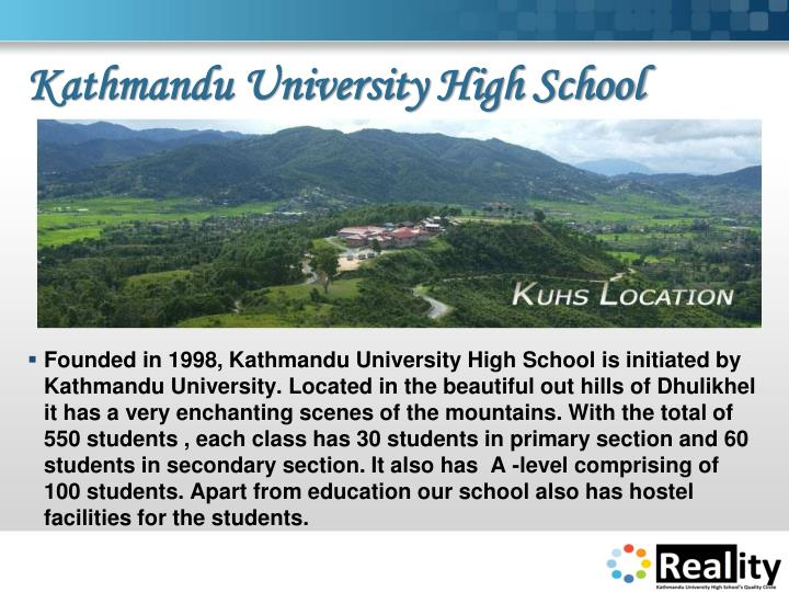 Kathmandu university high school