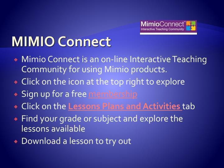 MIMIO Connect