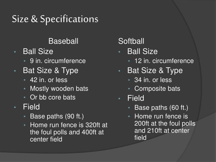 Size & Specifications