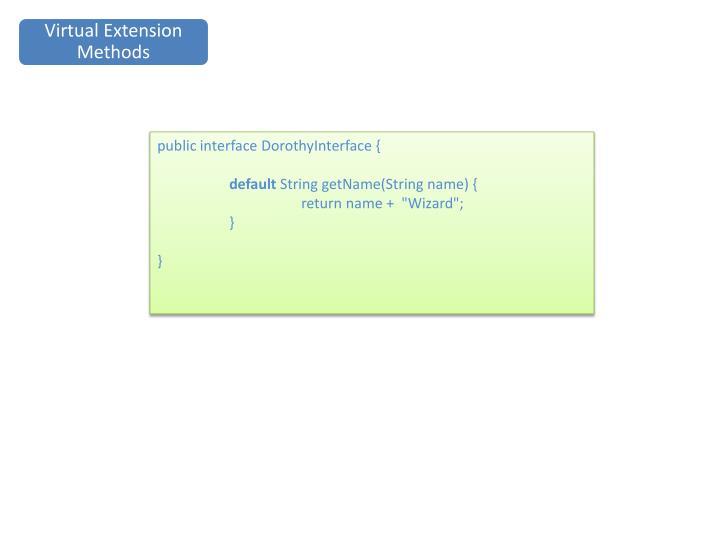 Virtual Extension Methods