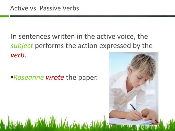 Active vs. Passive Verbs