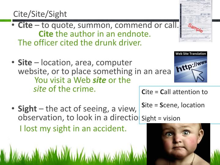 Cite/Site/Sight