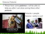 patience patients