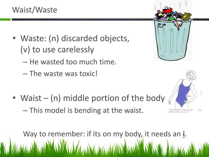 Waist/Waste