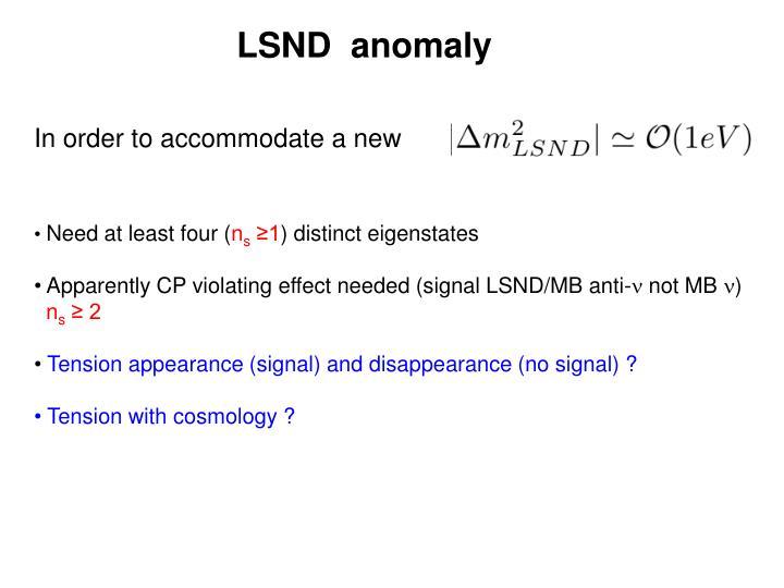LSND  anomaly