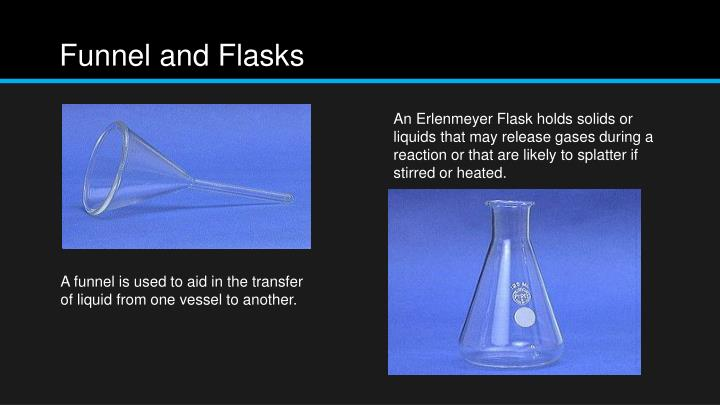 Funnel and flasks