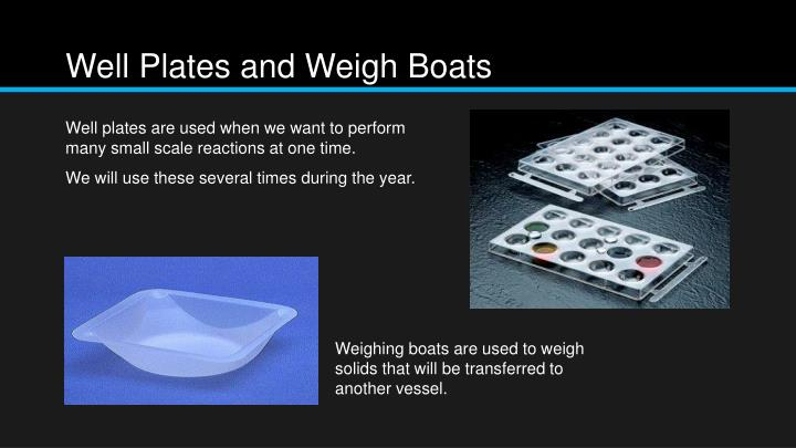 Well Plates and Weigh Boats