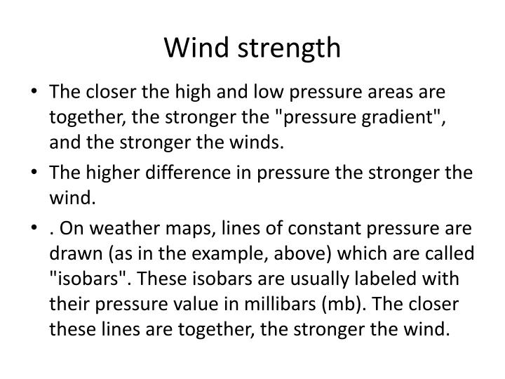 Wind strength