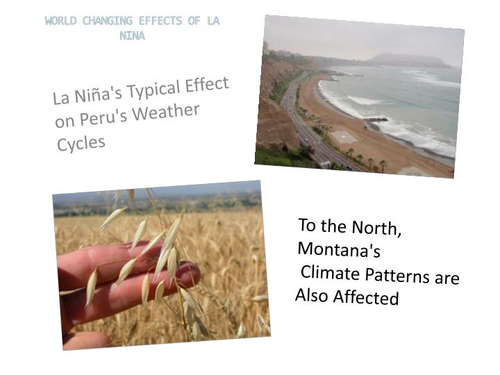 La Niña's Typical Effect on