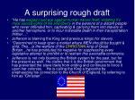 a surprising rough draft