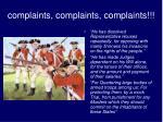complaints complaints complaints