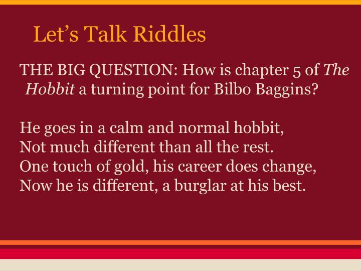 Let's Talk Riddles