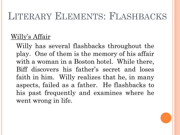 Literary Elements: Flashbacks