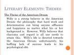 literary elements themes