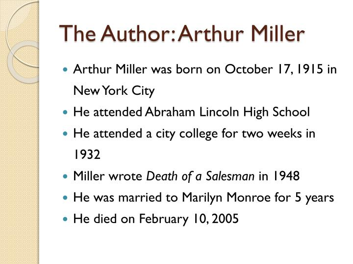 The author arthur miller