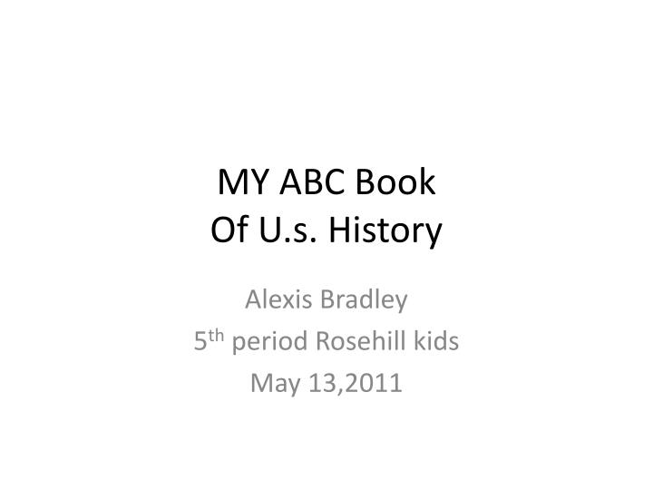 My abc book of u s history