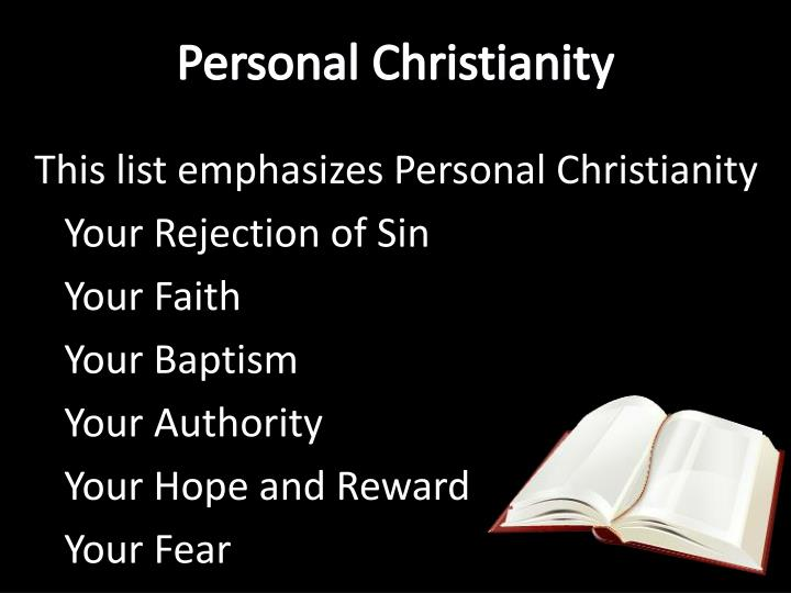 Personal Christianity