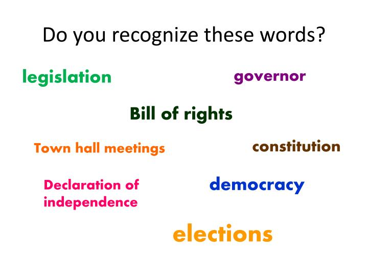 Do you recognize these words?
