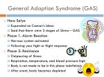 general adaption syndrome gas