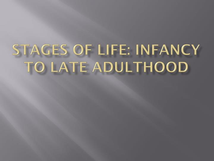 late adult stage of life Once the adult stage of life has been reached it can be broken down into three modes which give us early, middle, and late adulthood as with other stages and periods of life they can be.