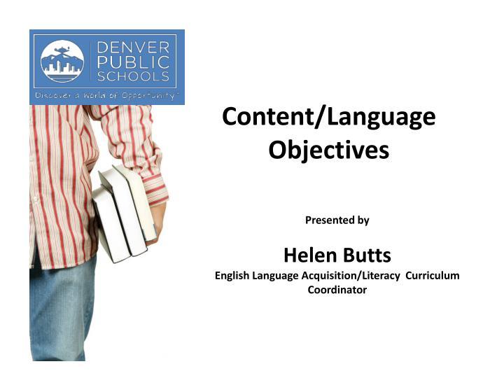 Content/Language Objectives