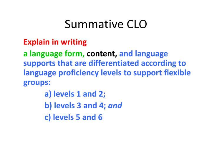 Summative CLO