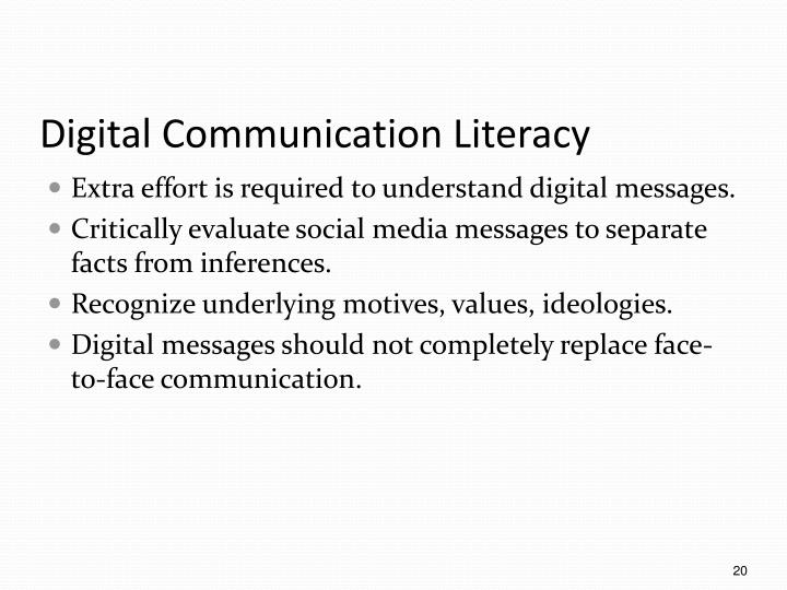 Digital Communication Literacy