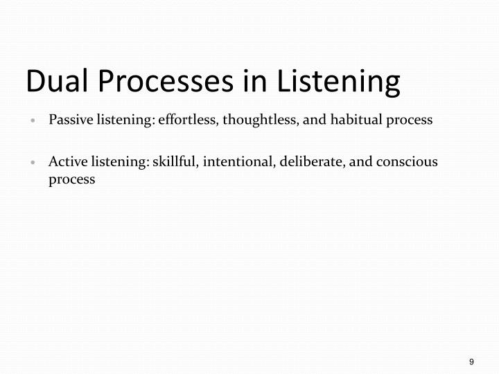 Dual Processes in Listening