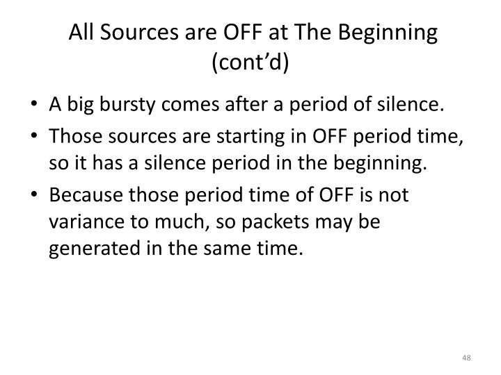 All Sources are OFF at The Beginning (cont'd)