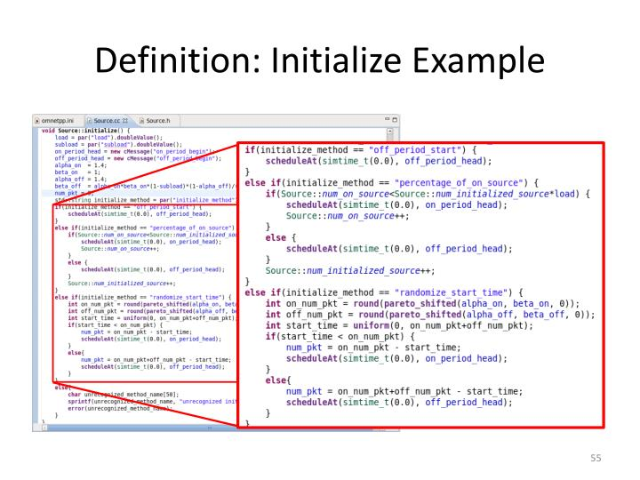 Definition: Initialize Example