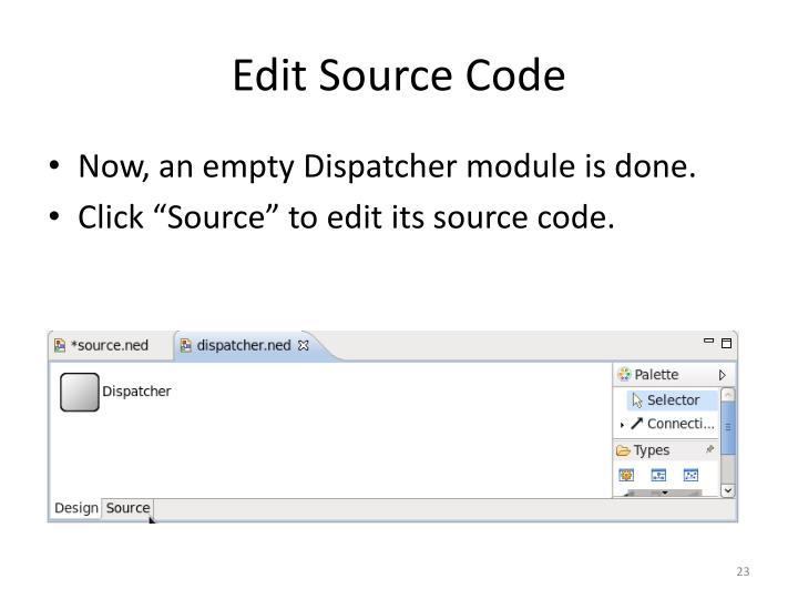 Edit Source Code