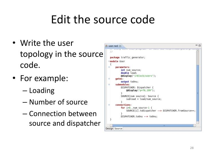 Edit the source code
