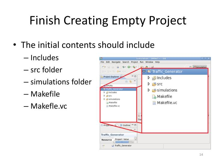 Finish Creating Empty Project