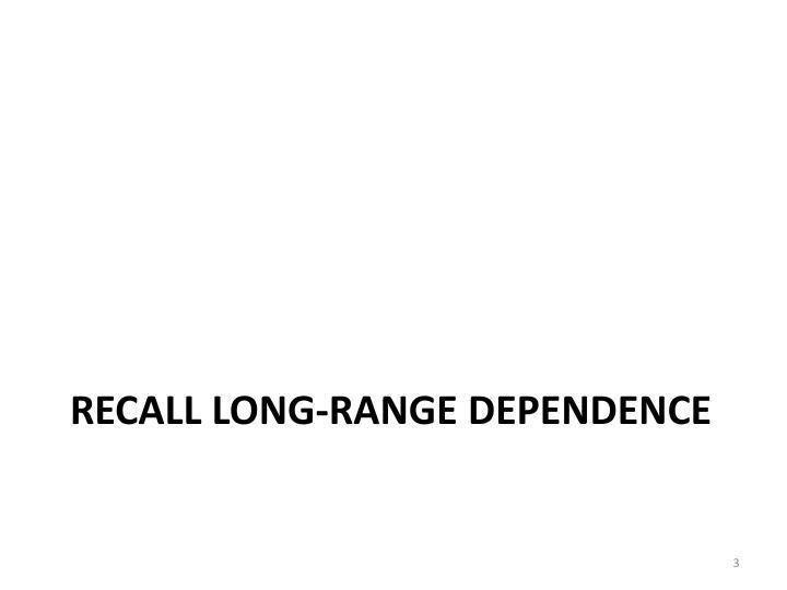 Recall Long-range Dependence