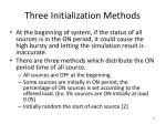 three initialization methods