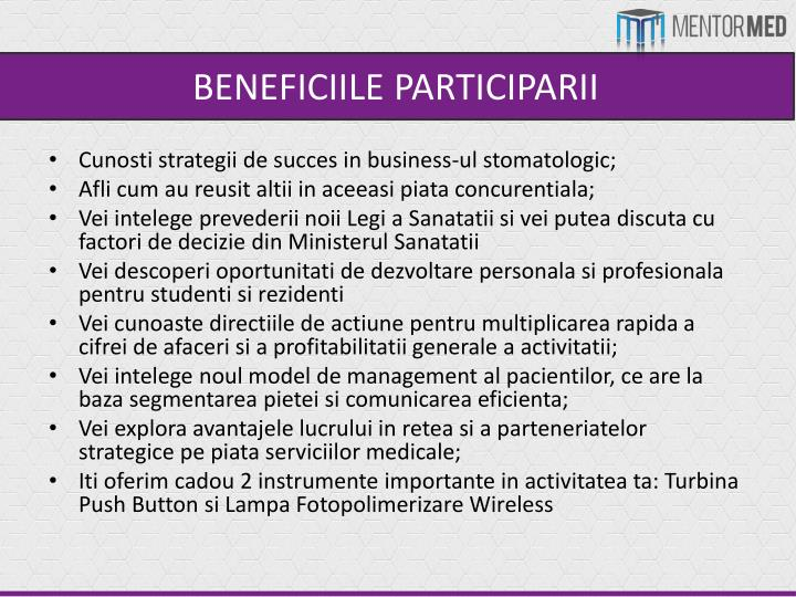 BENEFICIILE PARTICIPARII