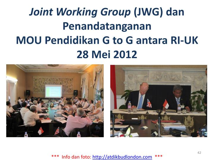 Joint Working Group