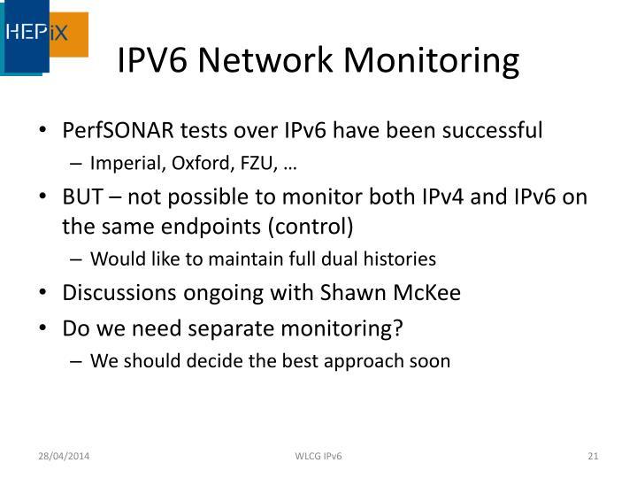 IPV6 Network Monitoring