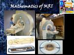 mathematics of mri1