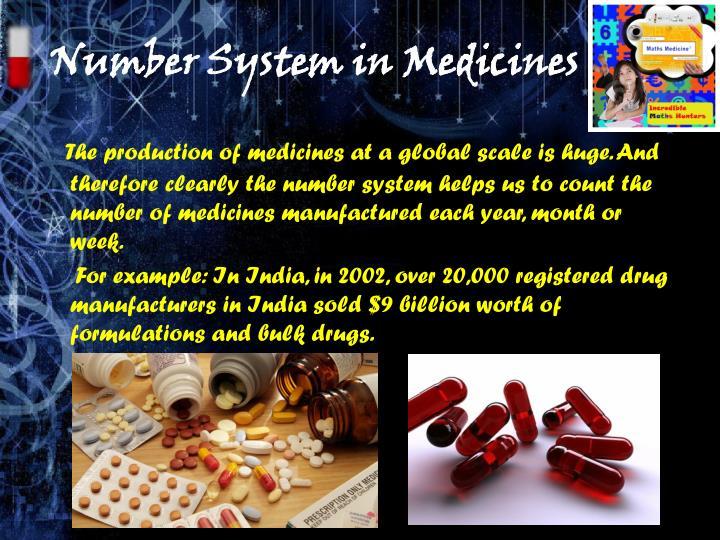 Number System in Medicines