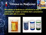 volume in medicines