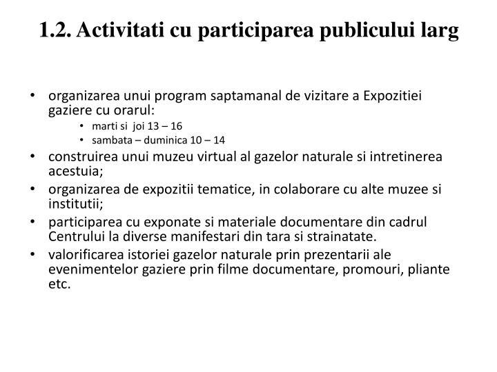 1.2. Activitati cu participarea publicului larg