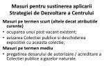 masuri pe ntru sustinerea aplicarii strategiei de dezvoltare a centrului
