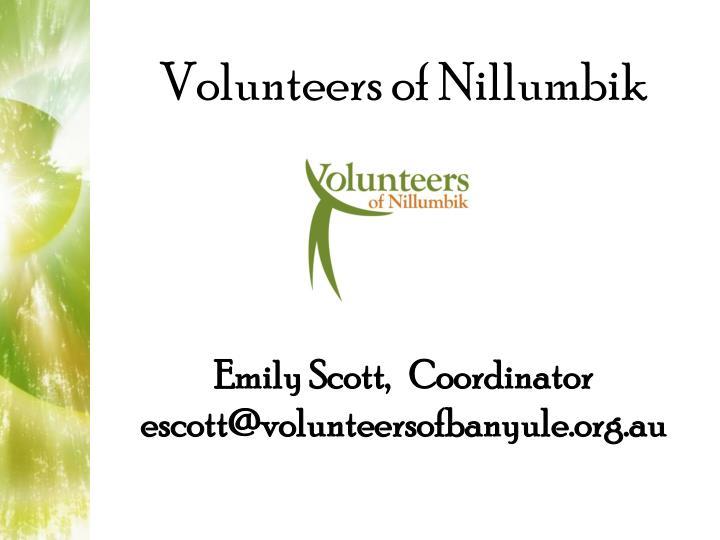 Emily Scott,   Coordinator