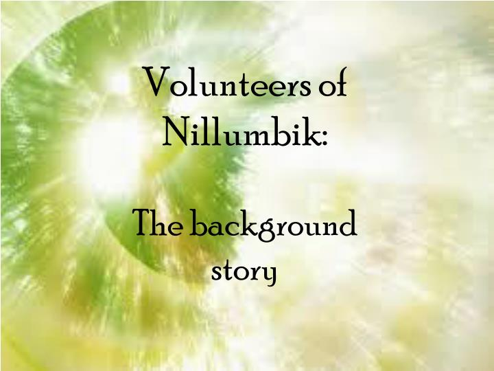 Volunteers of Nillumbik: