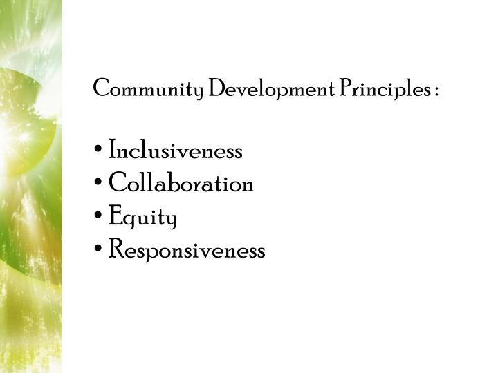 Community Development Principles :
