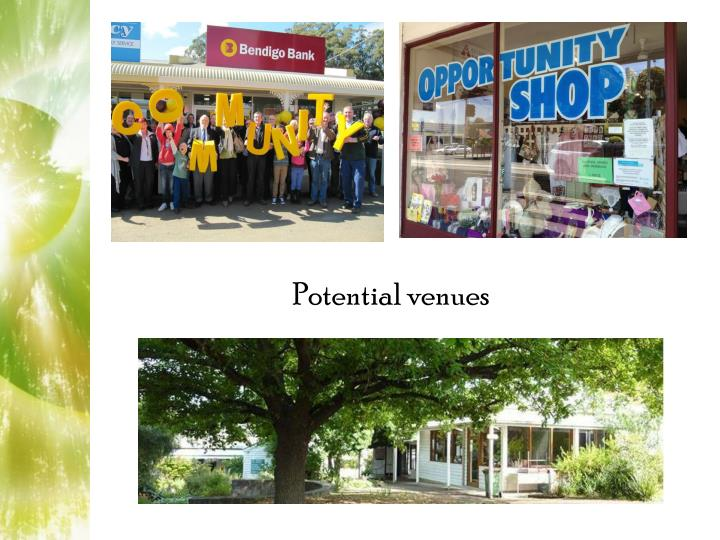 Potential venues