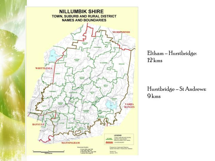 Eltham – Hurstbridge: