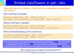 embed calotowers in pat jets